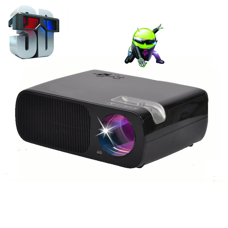 Android 4.4 Bluetooth Wireless Wifi Miracast LED Projector