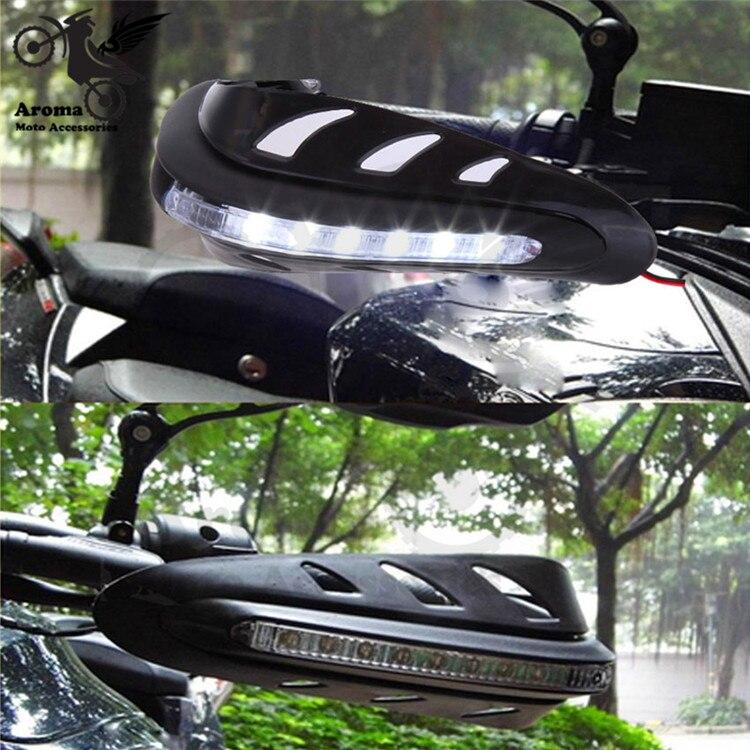 7 видов цветов доступны 12 мм 17 мм Moto ручной Shiled с указатель поворота Moto rcycle рука гвардии <font><b>LED</b></font> для KTM мини Байк handguard