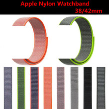 12 Colors Soft Fashion Nylon Watchband For Apple Watch 1 2 3 4 Series Wrist Bracelet Strap iWatch 38mm 42mm 40mm 44mm Band