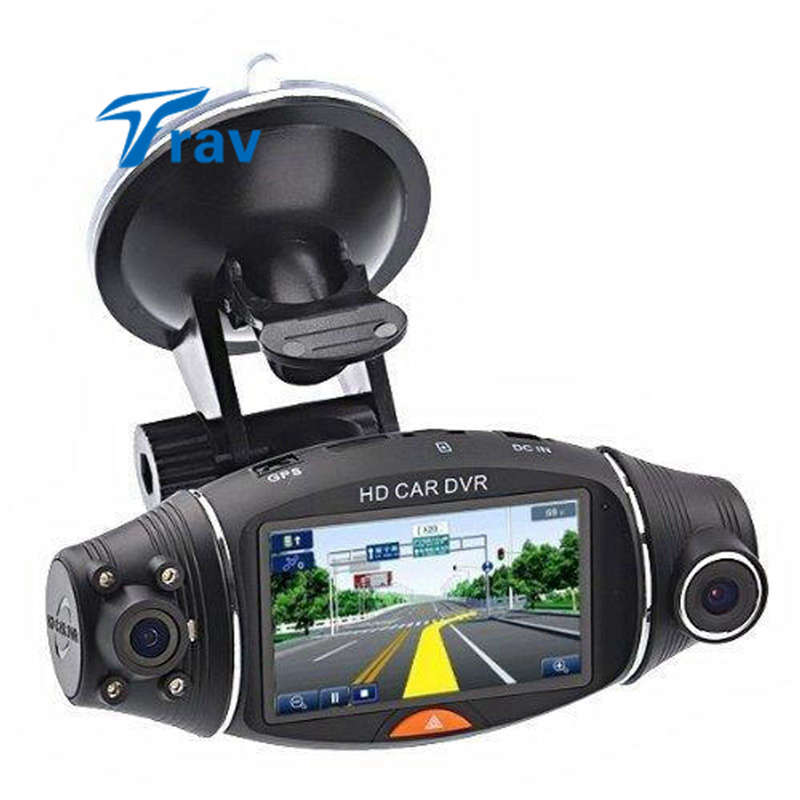 "2.7/"" Vehicle Car DVR Camera Video Recorder Dash Cam G-Sensor GPS Dual Len Cam"