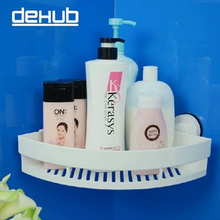 DeHUB Super Suction Cup Wall Mounted Bathroom Corner Rack Organizer Storage