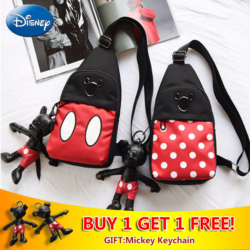 Disney Children's Messenger Bags Chest Coin Purse Student Shoulder Bag  Plush Backpack Mouse Cartoon Cute Baby Pouch Christmas