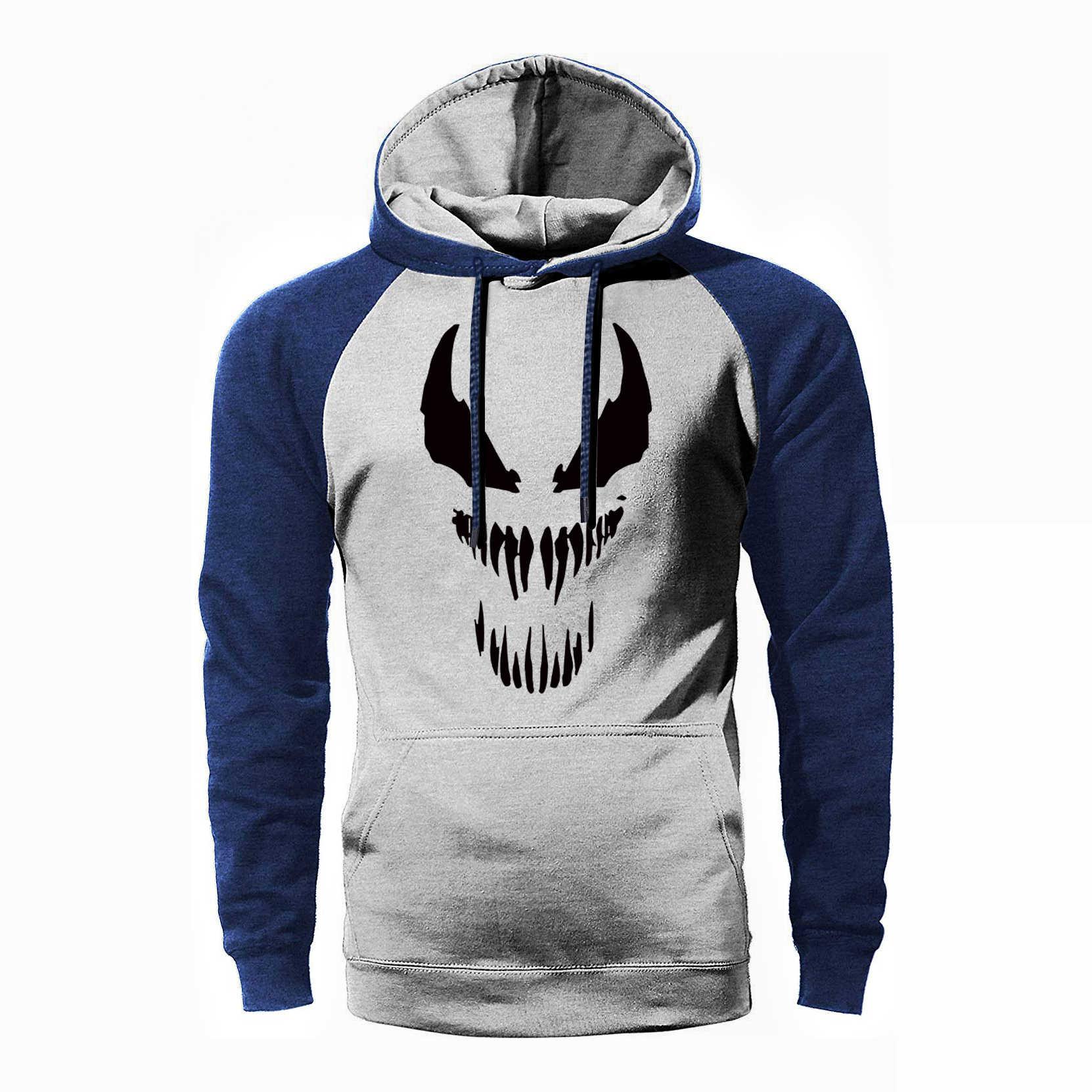 Super Hero Venom Raglan Hoodie Männer Kühlen Hoodies Herren Hipster Mit Kapuze Sweatshirt Neue Stil Frühling Herbst Hoody Hip Hop Streetwear