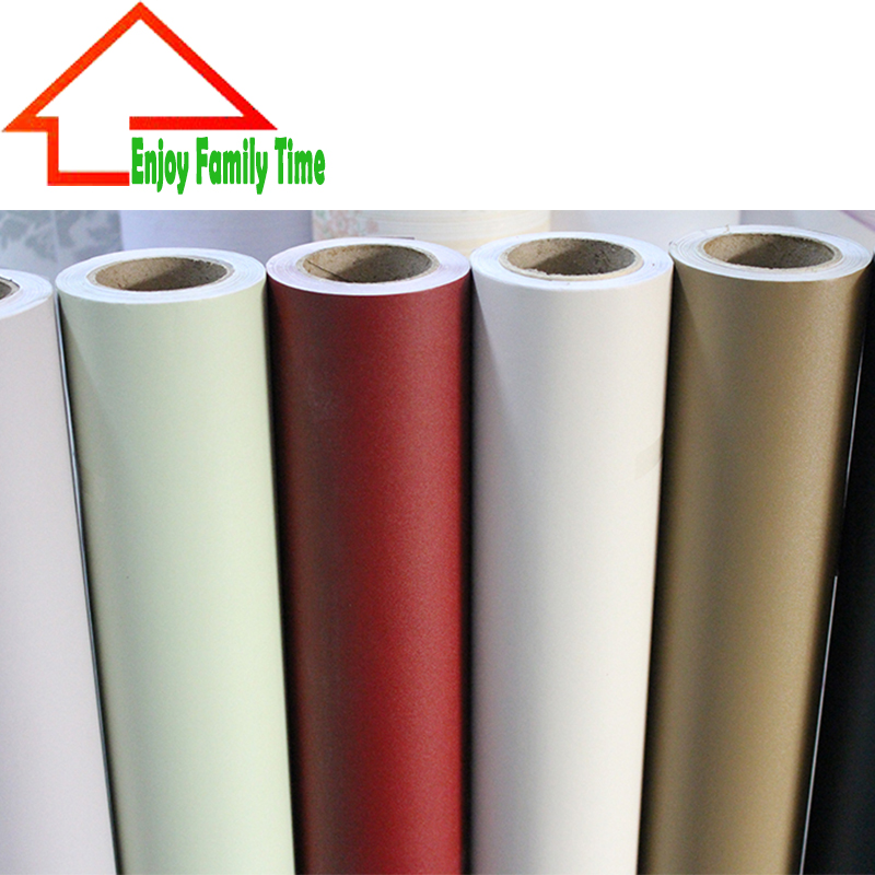 Wallpaper Solid Waterproof Self Adhesive Wallpaper Pvc