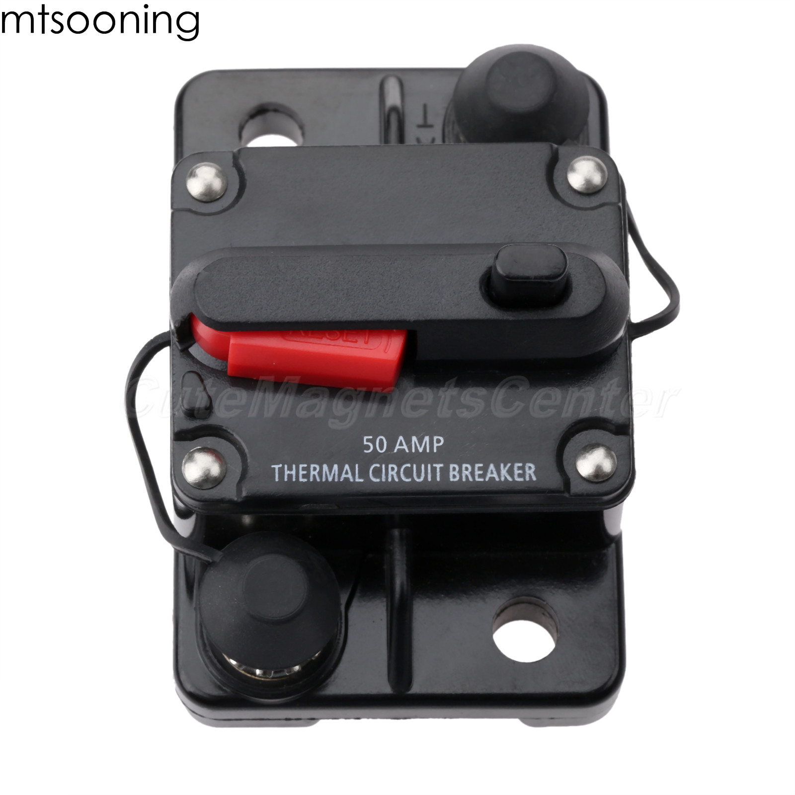2Pcs 10Amp Stud Bolt Type Car Boat Circuit Breaker with Automatic Auto Reset