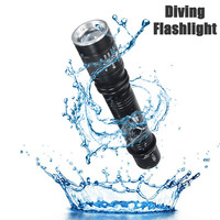 Outdoor D83 T6 Waterproof 1000LM 30m Underwater Diving Led Light Rotating Zoomable 18650 AAA LED Flashlight