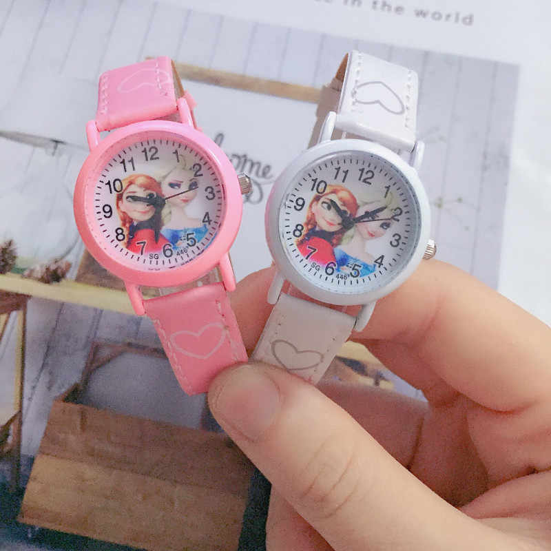 Child Christmas gift girl student clock children watch princess women quartz watches kids sports alloy dial leather wristwatch