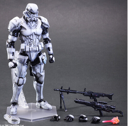 Star Wars Action Figure Toys Play Arts Kai Imperial Stormtrooper Collection Model Anime Star Wars Stormtrooper Playarts free shipping super big size 12 super mario with star action figure display collection model toy