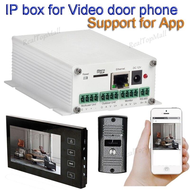 Sans fil wifi ip boxs soutien wifi, câble connexion SIP vidéo porte téléphone déverrouillage À Distance filaire numérique interphone systèmes