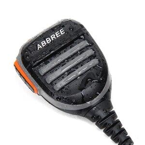 Image 4 - 2PCS Abbree AR 780 2 Pin PTT Remote Waterproof Speaker Mic for Radio Kenwood TYT Baofeng Walkie Talkie TH UV8000D MD 380 Radio