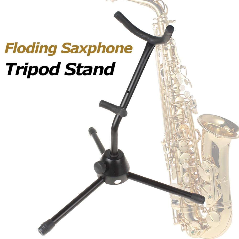 IRIN Tubular Construction Folding Saxophone Tripod Floor Stand Holder Alto Sax Rack