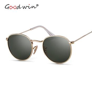 Good Win Polaroid Sunglasses Round Women Sonnenbrille Retro Sun Glasses For Men Polarized Sunglass okulary polaryzacyjne damskie