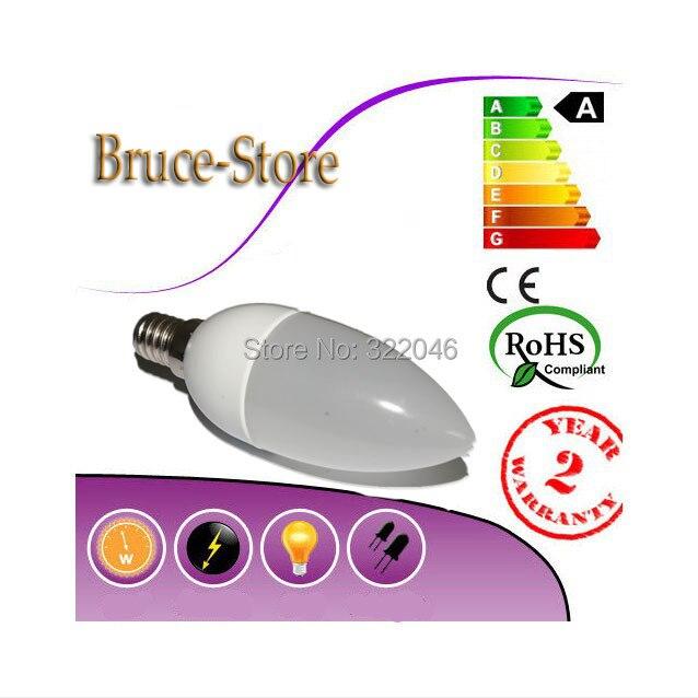 Led Candle Lamp E14 3W Spotlight Smd 2835 Warm / Cool