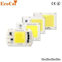 COB светодиодный чип 220 В 50 Вт 30 Вт 20 Вт 10 Вт светодиодный Матрица для проекторов бусины Cob Чип Прожектор для DIY прожектор Открытый чип лампа