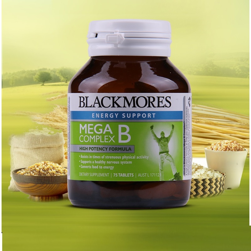 Australia BM Mega B vitamins Complex Support Nervous System Energy Function during Strenuous Physical Activity image