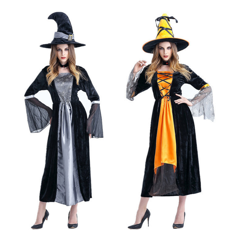 2018 new Halloween Witch Costumes Christmas Carnival clothing Fantasia Infantil Adult Fairy Costume Vampire Cosplay Party Dress