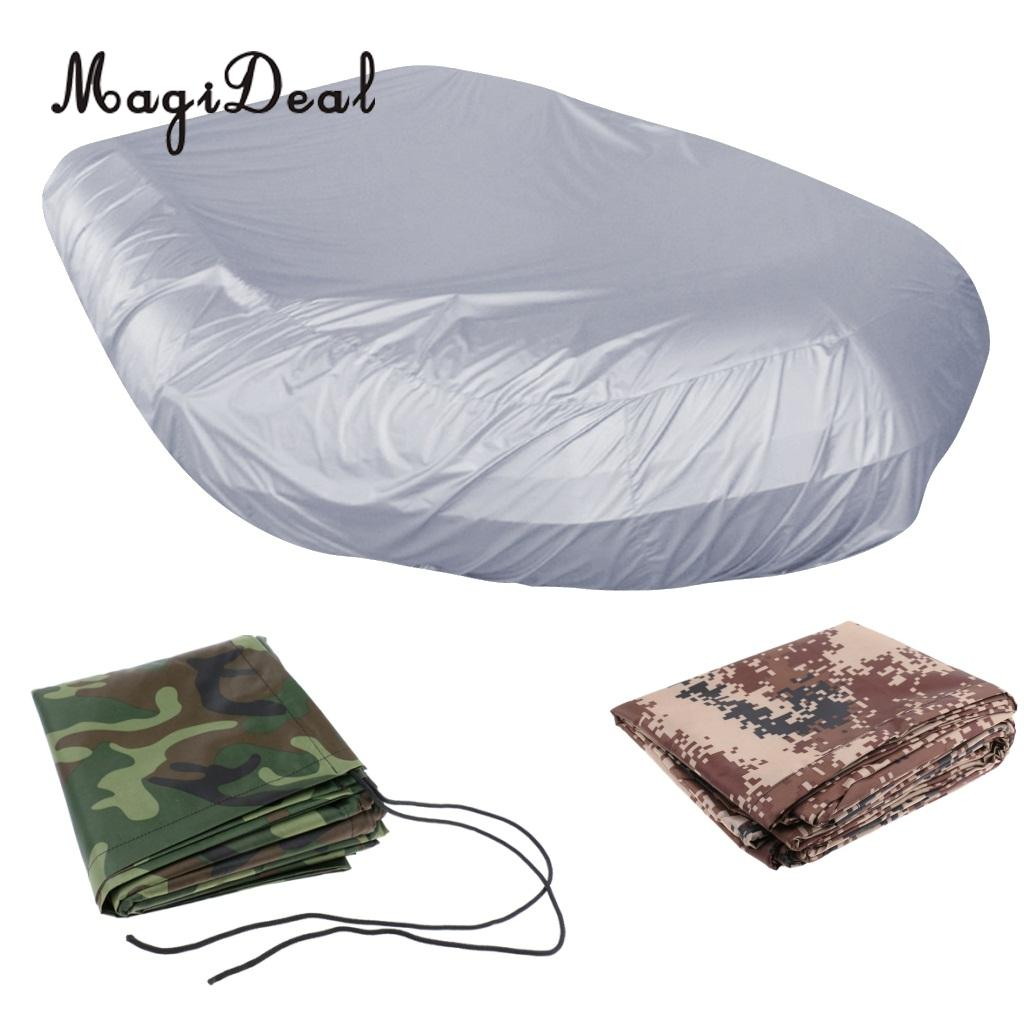 MagiDeal Heavy Duty Waterproof 2.3-4.7m/7.5-15.4ft Inflatable Boat/Dinghy/Tender Cover Storage UV Sun Protection Shield Case