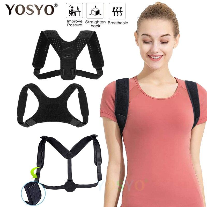 m BOSS LV Back and Shoulder Pain,Improve Posture,Prevent Slouching Adjustable Adjustable Back Posture Corrector,Brace Upper Back Correction Spinal Support for Neck