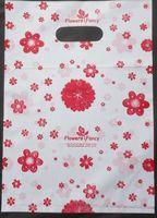 500 pçs/lote Frete grátis flores cor sacos De Plástico Transportadora sacos de Embalagem sacos de compras Por Atacado 20*15 cm 015020015