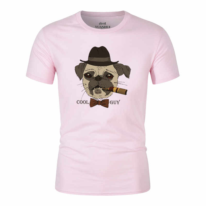eff28e2f ... HAMPSON LANQE Dabbing Pug Animal T Shirts 2018 Summer Cartoon Dog Men's  T-Shirt 100 ...