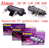 Atman 5 36W 8000L/H Aquarium Pond UV Sterilizer Lamp Clarifier Fish Tank Filter Ultraviolet LIGHT Up 35000L