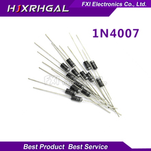 100PCS 1N4007 DO-41 4007 1A 1000V High quality Rectifier Diode IN4007   New original free shipping