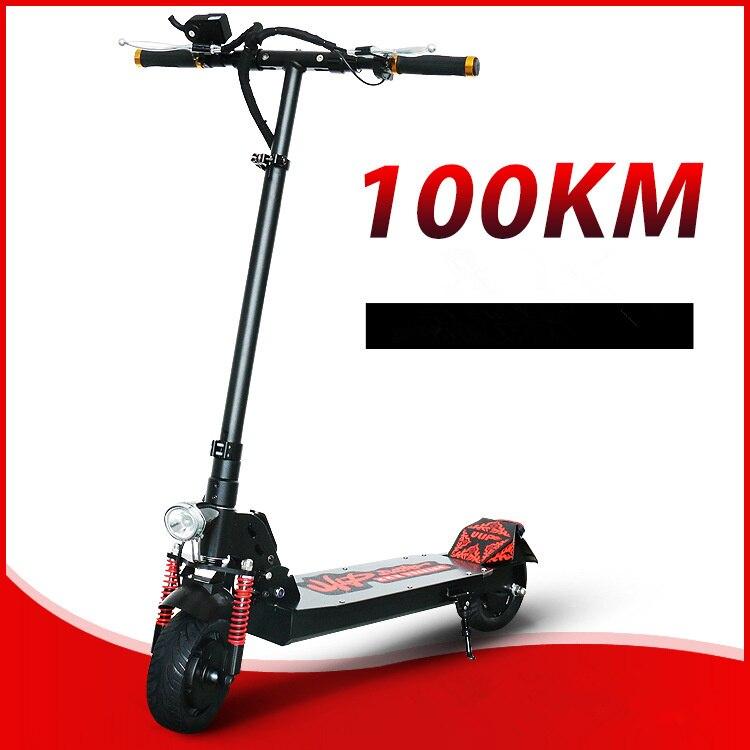 8 pouce avant absorption des chocs large pneu pliant électrique scooter de vélo adulte ville scooter étanche avant arrière double freins