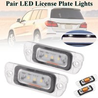 Pair 3 SMD LED License Plate Light For Mercedes Benz AMG ML450 ML500 ML550 ML63 R350