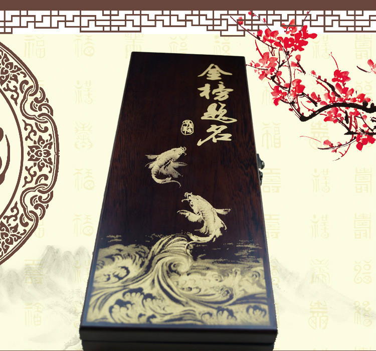 2018 Chinese Traditional weasel hairs writing brush  painting calligraphy pen gift box suit
