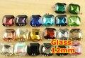 27 Цветов для Выбора 100 шт./лот 12 мм Классическая Жира Квадратной Формы Pointback хрусталя Необычные Камень Для Изготовления Ювелирных Изделий