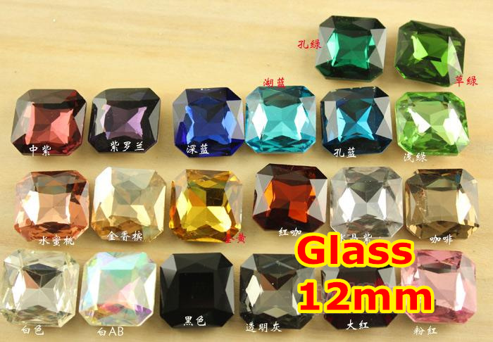 27 Colors for Choice 100pcs/Lot 12mm Classical Fat Square Shape Pointback glass Crystal Fancy Stone For Jewelry Making 100pcs lot 1n5820 do 27