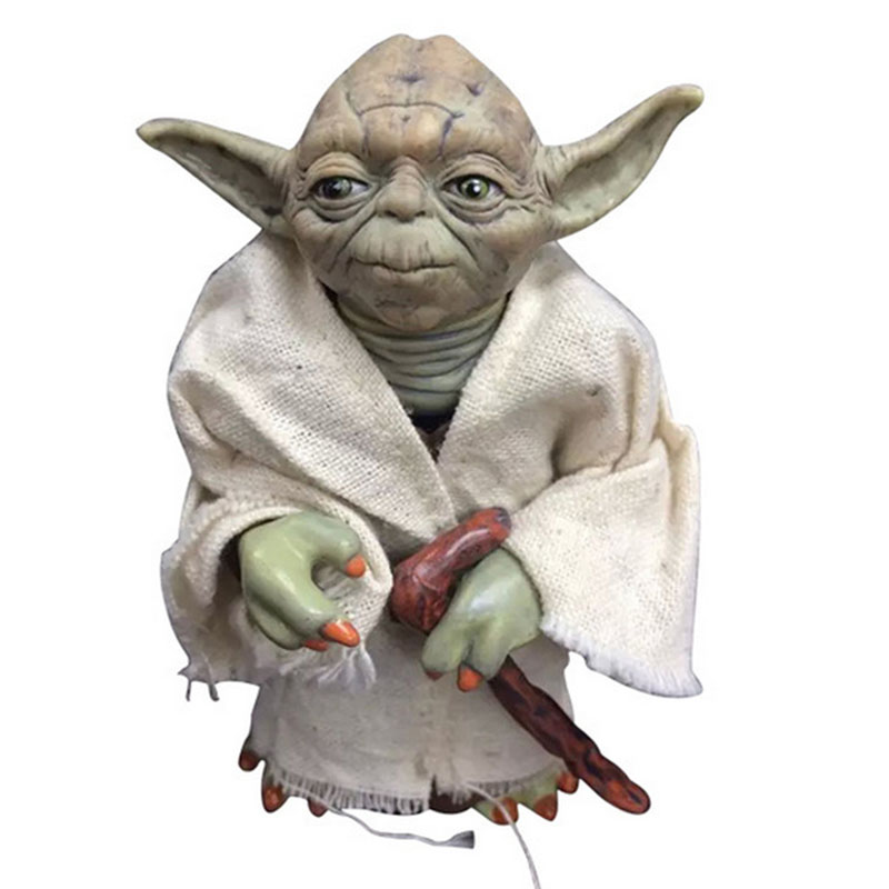 12cm Star Wars Black Series Yoda figure toy 2016 New star wars force awakens Jedi Master Yoda figura party supply decoration star wars clone wars jedi master plo koon 3 75 inch loose figure