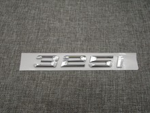 Shiny Silver ABS Number Letters Word Car Trunk Badge Emblem Letter Decal Sticker for BMW 3 Series 325i