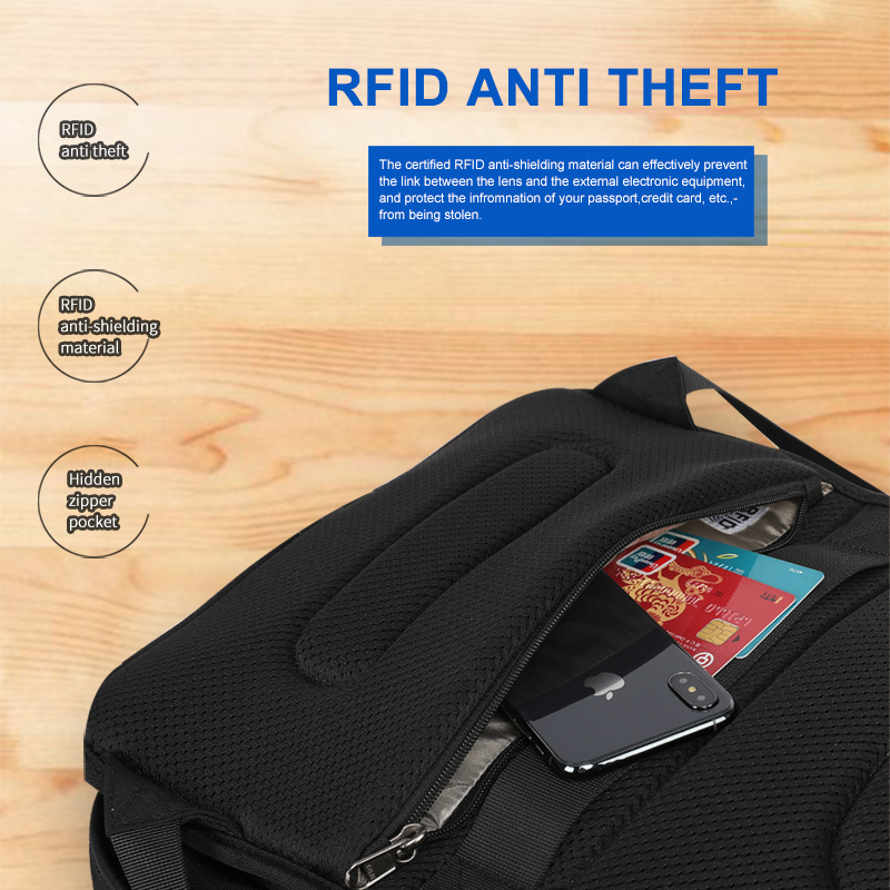 2019 New RFID Upgraded Anti theft Zippers Waterproof Laptop Men Backpack With USB Charging Large Capacity Travel Bag Male Female in Backpacks from Luggage Bags