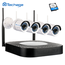 Techage Home Security Wireless NVR Kit Wifi CCTV System 720P 1.0MP P2P Indoor Outdoor IP Camera Surveillance Set Motion Detect