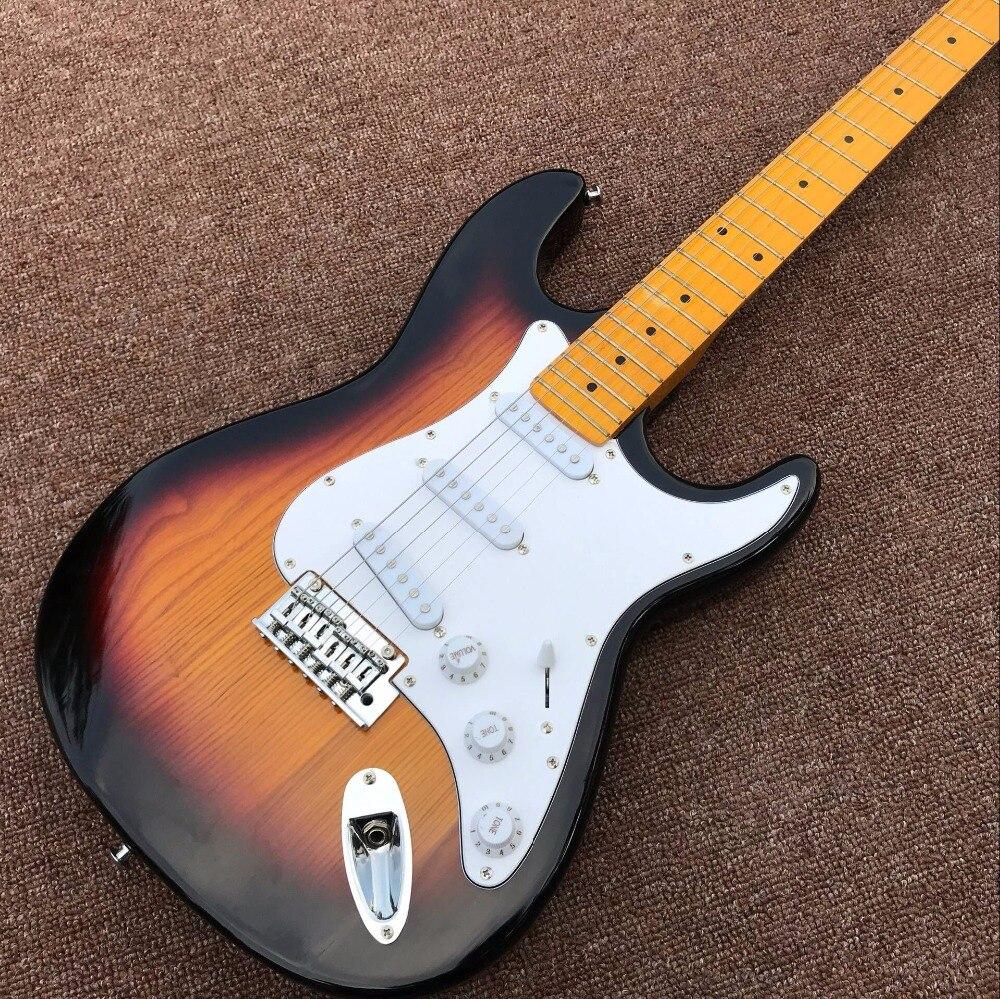 חדש מגיע חנות אישית Sunburst TELE גיטרה - כלי נגינה