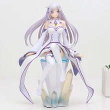 Re:Life in a Different World from Zero Emilia Kara Hajimeru Isekai Seikatsu Action Figure PVC Collection Model Toys 17-23cm(China)