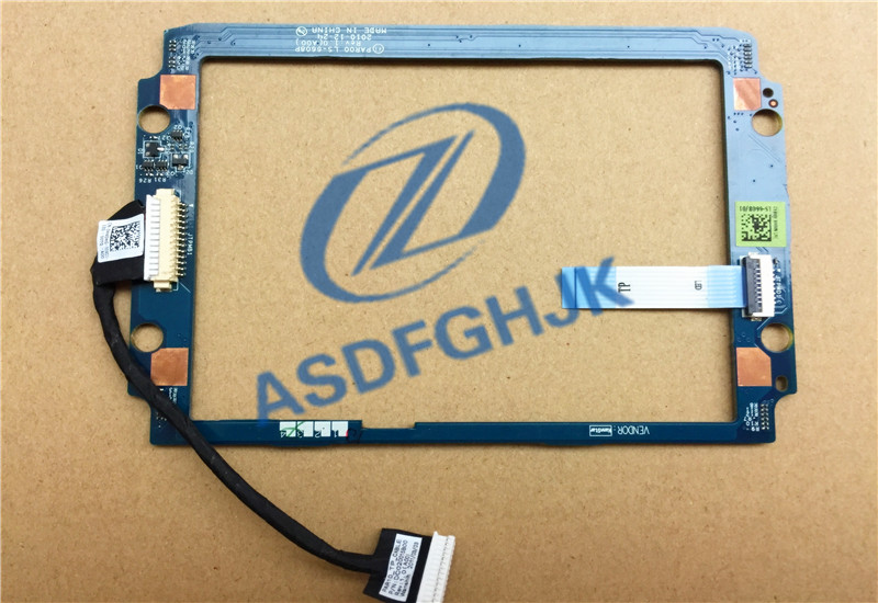 For Dell FOR <font><b>Alienware</b></font> M17X <font><b>R3</b></font> <font><b>M18X</b></font> R2 Palmrest Touchpad LED Back Light Board & Cable LS-6608P 0H4DHG DC020015B00 100% test ok image
