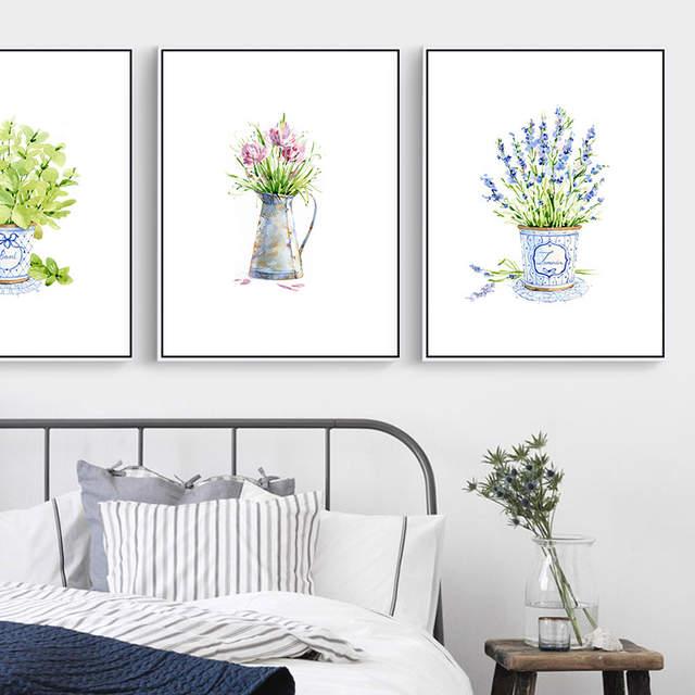 Online Shop Saksı çiçek Tuval Boyama Bebek çiçek Yağlıboya Parlak