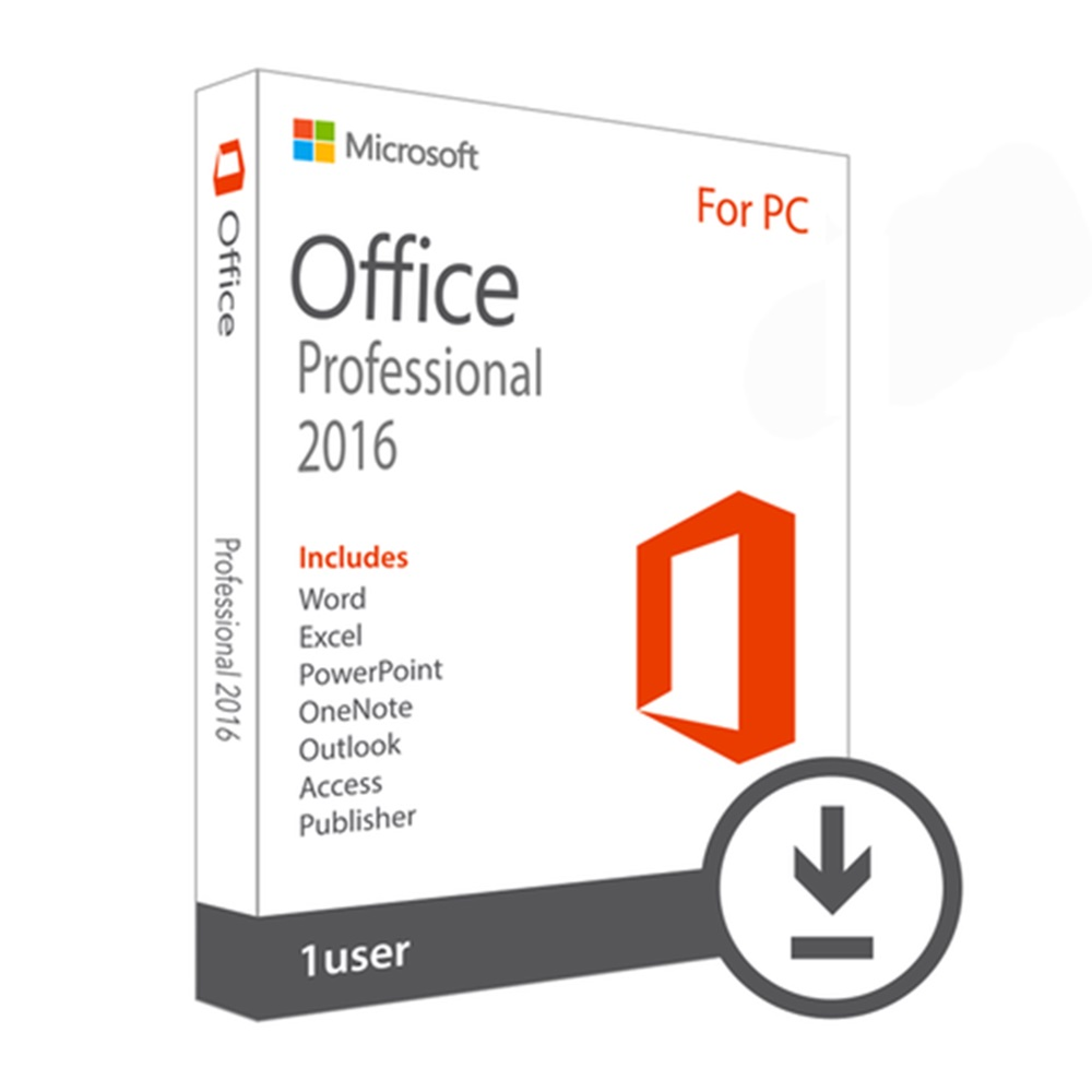 Microsoft Office Professional 2016 Software For Windows 7/8/10 License 1 Product Key Boxed DVD Version | 1 Person User(China)