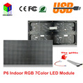 P6 indoor full color high definition  LED module SMD rgb 384*192mm 64*32 pixels for RGB 7 color led advertising  screen panel