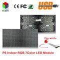 P6 interior módulo de alta definição LED SMD RGB 384 * 192 mm 64 * 32 para RGB 7 LED painel de tela