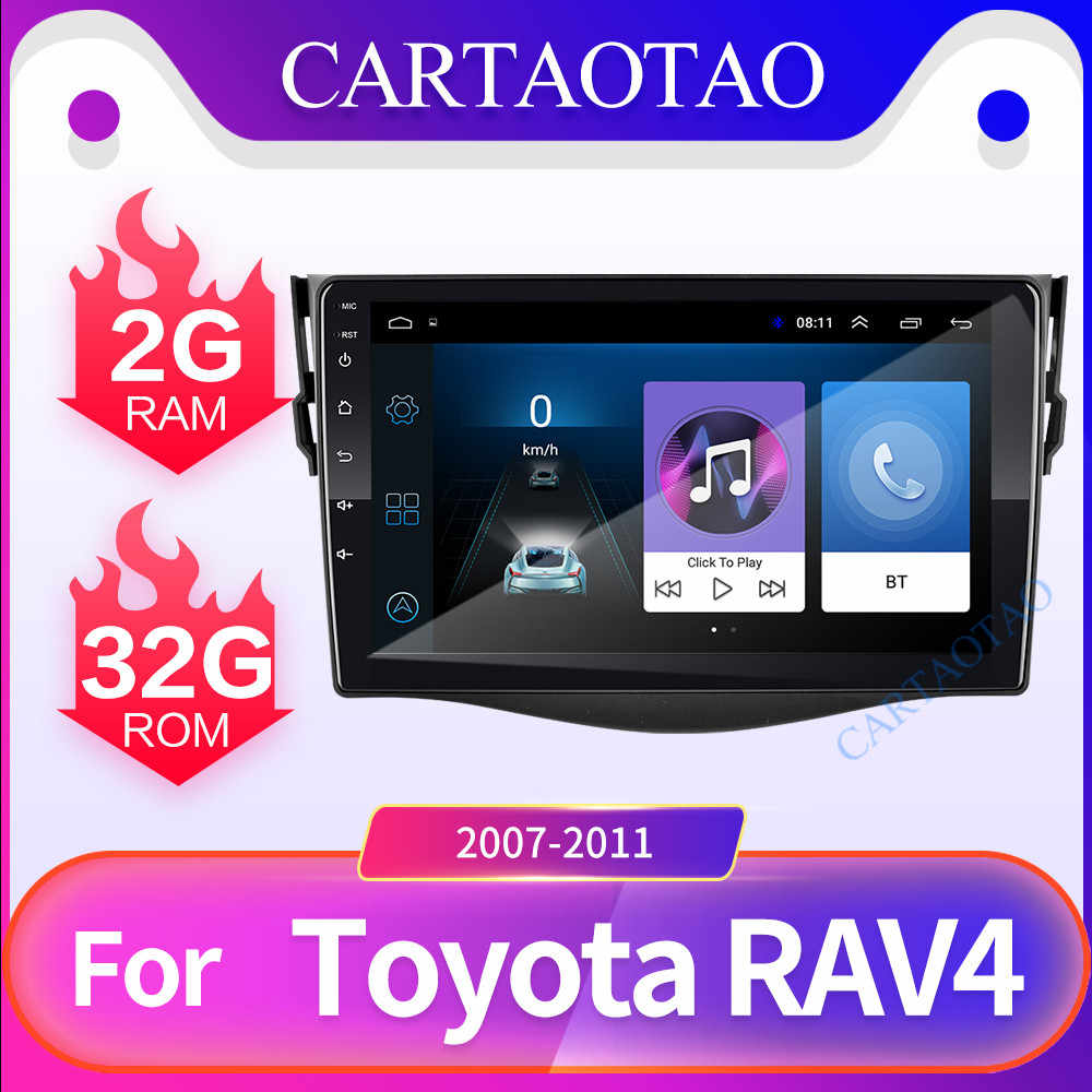 Android 8.1 GO car DVD player for Toyota RAV 4  2007 2008 2009 2010 2011 2 din Car radio multimedia GPS navigation wifi player