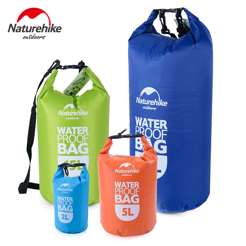 Naturehike Outdoor Ultralight Travel Rafting Camping Hiking Swimming Waterproof Bag Dry Sack 2L 5L 15L 25L 60L ultralight 5l portable outdoor camping travel rafting dry waterproof bag swimming bags outdoor sports travel kit with 4 colors