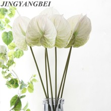 3D Mixed Color Anthurium Indoor Fake Plant Artificial Flowe For Wedding Party Decoration Fake Flowers Home Decor