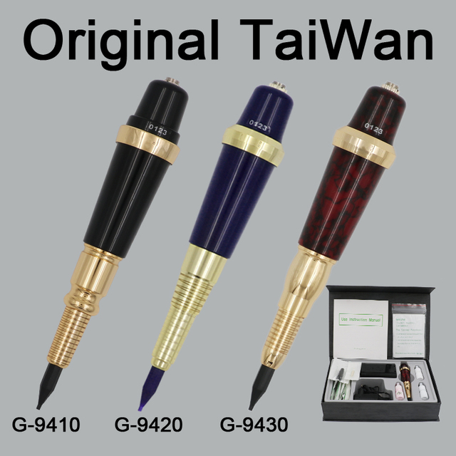 Pro Original Taiwan G-9410 Permanent MakeUp Tattoo Machine Pen Eyebrows Forever Make Up GS Microblading Tattoo Kit With Needles