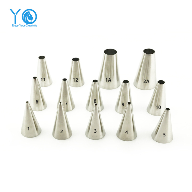 1-Piece Round Piping Tip Decorating Mouth Nozzle Pastry Tips Fondant Cake Decorating Sugarcraft Tool Pastry Tools Bakeware