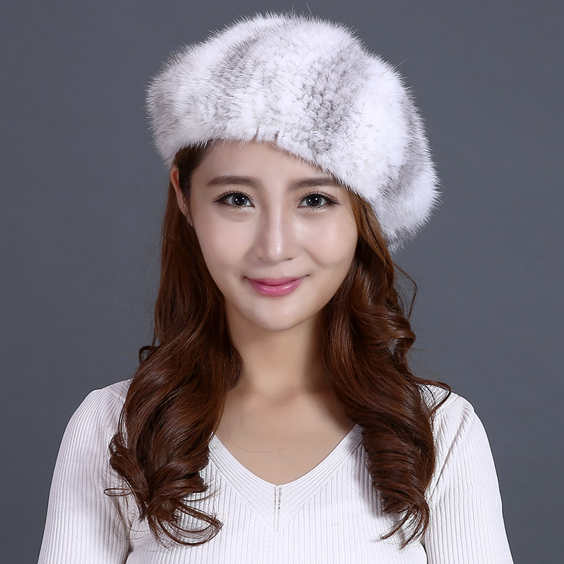 3a982a10cc6 Real Mink Fur Hats For Women Trendy Brand Winter Genuine Mink Beanies  Knitted Cap Ladies Warm Thick Fur Hats Russian Beanies-in Skullies    Beanies from ...