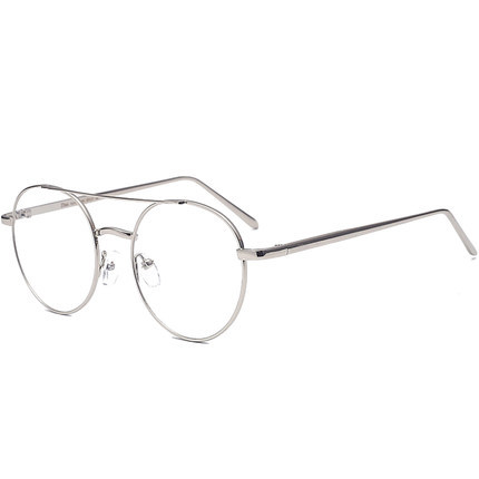 a5c31c2cd6f1 SHELI Oversized Round Clear Glasses Frame Men Retro Eyeglasses For Women  Mirror Metal Pilot With Myopia