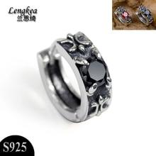 Orecchini da uomo orecchini orecchini in pietra nera orecchini prepotenti retrò gioielli amanti della personalità accessori moda regalo